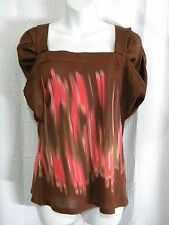 Anthropologie One September Size S Paint Swatch Brushstroke Top