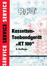 RFT Kassettenrecorder KT 100 Sonneberg Service Anleitung