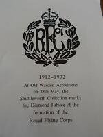 Rare Royal Flying Corps Booklet RFC RAF Royal Air Force Illustrated WW1 WW2 A4Sz