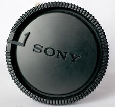 Black Sony rear lens cap to fit Sony A mount or Konica/Minolta lenses.