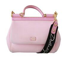 DOLCE & GABBANA Bag Purse MISS SICILY Pink Neoprene Leather Shoulder Hand Borse