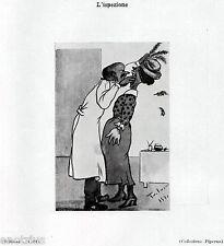 DAL DENTISTA: ISPEZIONE DELLA  BOCCA. Caricatura. Dentiste.Dentist.Zahnarzt.1929