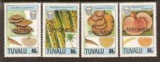 TUVALU FUNGI 1988 4v SPECIMEN OPT MNH