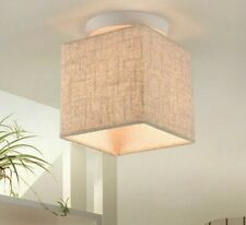 Ceiling Modern Lamps Square Lampshade Fabric Cloth Hotel Foyer Lighting Fixtures