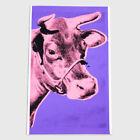 Andy Warhol Rare Vintage 1976 Original Cow Screenprint on Wallpaper PR061SAWF.33