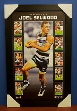 Joel Selwood Signed Geelong Official AFL Montage Black Frame 11 Action Shots