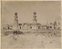 Egitto Moschea Fotografia Zangaki Vintage Albumina c1880