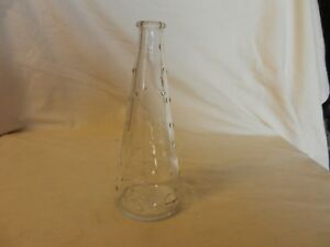 "Ikea Tapered Clear Bubble Glass Bud Vase #16795 7.25"" Tall"