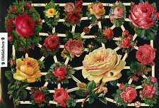 # GLANZBILDER # EF 7344 Bogen mit wunderschönen alten Rosen - Motiven