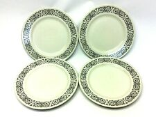 "Vintage Set Four Used Carlton Fontaine Fine China Japan 10.25"" Dinner Plates"