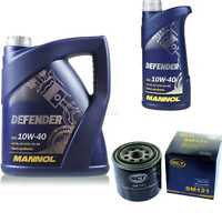 Ölwechsel Set 6L MANNOL Defender 10W-40 Motoröl + SCT Filter KIT 10190677