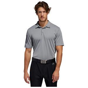 2021 adidas Mens 3-Stripe Basic Polo Shirt Short Sleeve Golf Top UV50+ Factor
