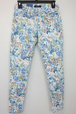 Salsa Women's Flower Print Cropped Colette Trousers Juniors 3 White  NWT