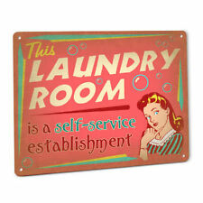 Laundry Room SIGN  Self Service Soap Vintage Wall Art Cabin Launderette Washer