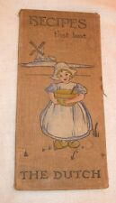 Vtg.  Antique HC Cookbook Folder Holder Early 1900s Recipes That Beat The Dutch
