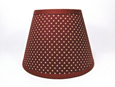 Country Primitive Americana Stars Star Red Rust Fabric Lampshade Lamp Shade