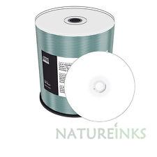 100 MEDIARANGE Bianco Stampabile CD-R Vuoto Dischi CD 700 MB 80 min 52x MR203 Cakebox