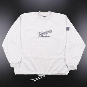 Vintage REEBOK Big Logo Grey 90s Crew Neck Sweatshirt Womens XL