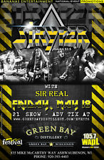 "STRYPER / SIR REAL ""ISAIAH 53:5"" 2018 GREEN BAY TOUR CONCERT POSTER - Glam Metal"