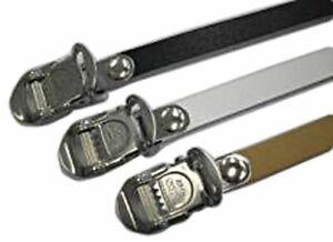 MKS Fit Alpha Spirits single toe straps, black - pair