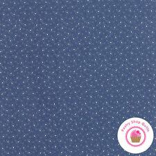 Moda POLKA DOTS PAISLEYS Blue 14804 17 Minick & Simpso FABRIC BY THE HALF YARD