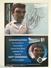 THUNDERBIRDS 50 YEARS Autograph Card Matt Zimmerman as Alfred