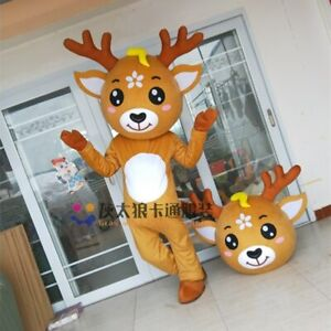 Deer Mascot Costume Cosplay Party Game Dress Outfit Advertising Halloween Adult