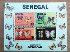 Block Bogen Neu MNH Senegal Schmetterlinge 1982 CH11