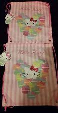 ×2 Hello Kitty Trainer Swimming Shoe Pe Bag Drawstring Handles