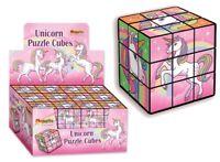 UNICORN PUZZLE CUBE - 385-196 COLOURFUL FIDDLY 3D FIDGET MATCHING KIDS FUN TOY