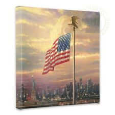 "Thomas Kinkade The Light of Freedom 14"" x 14"" Gallery Wrapped Canvas"