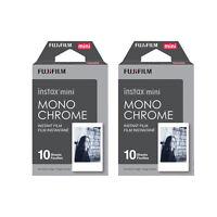 20 Prints Fujifilm B&W Monochrome Instax Mini Instant Film for Fuji 9 8 70 90