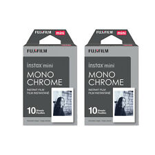 20 Prints Fujifilm B&W Monochrome Instax Mini Instant Film for Fuji 9 8 70 90