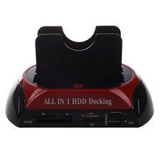2.5 3.5 SATA/IDE HDD 2-Dock Docking Station e-SATA Hub DM