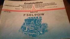 Ersatzteilliste Spare Parts Catalog Deutz F3-6 L 912/W 297 4146