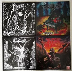 Death Metal Vinyl LP Packet - Sammlung Massacre Asphyx Epitaph Traumatic Grave