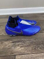 Nike Phantom VSN Elite DF FG Soccer Cleats Racer Blue AO3262-400 Men's Size 9.5