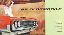 1962 Oldsmobile Starfire Ninety-Eight Super 88 Dynamic 88 F-85 Sales Brochure