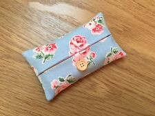 Handmade Packet Tissue Holder Made With Cath Kidston Blue Ashdown Rose Fabric