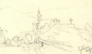 George Willoughby Maynard NA (1843-1923) - Six Austrian Landscapes in Graphite