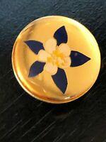 Vintage Collectible Flower Metal Pinback Lapel Pin Hat Pin