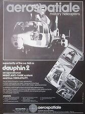 11/1982 PUB AEROSPATIALE HELICOPTERE SA 365 M DAUPHIN 2 ALAT ANTI TANK HOT AD