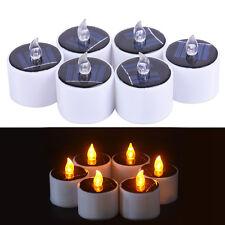 6pcs Solar Power LED Candles Flameless Electronic Solar LED Tea Lights Lamp UK