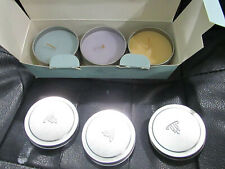 Partylite Candle Tin Gift Set Of 3. Revitalize, Unwind & Relax. Well Being.