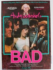 ANDY WARHOL BAD 1976 ORIGINAL GERMAN MOVIE POSTER RARE