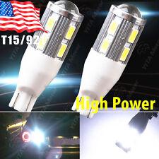 2X Super White T15/T10 Projector Lens Back up Reverse Light LED bulb 921 912 906