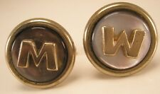 M or W Initial Monogram Letter Font Name Vintage Cuff Links gift
