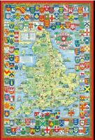 Historical Map of England & Wales 1000 Piece Jigsaw Puzzle (jg)