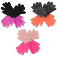 Jumping Beans Chenille Texting Gloves for Girls - 2 Pack Touchscreen Compatible