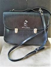 Vintage Black Mickey Mouse Logo Handbag Shoulder Bag Purse